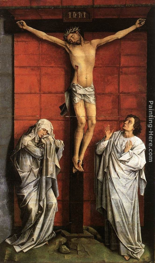Rogier van der Weyden Christ on the Cross with Mary and St. John