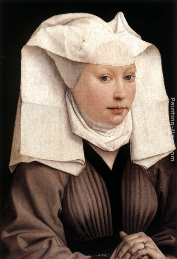 Rogier van der Weyden Lady Wearing a Gauze Headdress