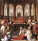 Rogier van der Weyden Exhumation of St Hubert painting