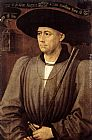 Rogier van der Weyden Portrait of a Man painting