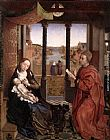 Rogier van der Weyden St Luke Drawing a Portrait of the Madonna painting