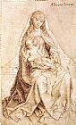 Rogier van der Weyden Virgin with the Blessing Child painting