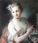 Rosalba Carriera Nymph from Apollo's Retinue painting