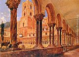 Rudolf Ritter von Alt A View Of Monreale, Above Palermo painting