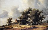 Salomon van Ruysdael Road in the Dunes with a Passenger Coach painting