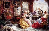 Salvador Sanchez Barbudo An Afternoon In The Salon painting