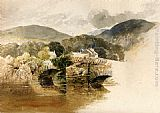 Samuel Palmer Beddgelert Bridge, North Wales painting