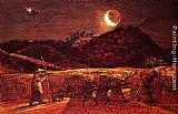 Samuel Palmer Cornfield By Moonlight painting