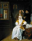 Samuel van Hoogstraten The Anaemic Lady painting