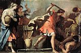 Sebastiano Ricci Moses Defending the Daughters of Jethro painting