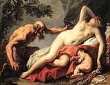 Sebastiano Ricci Venus and Satyr painting