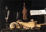 Sebastien Stoskopff Still-Life with Statuette and Shells painting