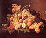 Severin Roesen Still Life with Fruit painting