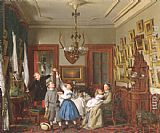 Seymour Joseph Guy The Contest for the Bouquet The Family of Robert Gordon in their New York Dining-Room painting