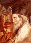 Simeon Solomon A Rabbi Holding The Torah painting
