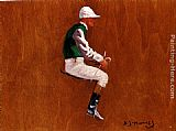Sir Alfred James Munnings A Jockey Study For Hethersett Races painting
