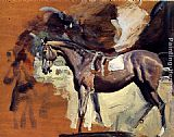 Sir Alfred James Munnings A Study Of Mahmoud, The 1936 Derby Winner painting