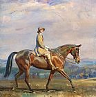 Sir Alfred James Munnings Portrait of Mrs Margaretta Park Frew Riding painting