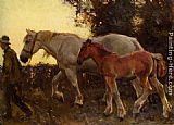 Sir Alfred James Munnings Wending Home painting