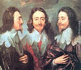 Sir Antony van Dyck Charles I in Three Positions painting
