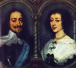 eze cote dazur france Paintings - Charles I of England and Henrietta of France
