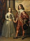 Sir Antony van Dyck William II, Prince of Orange and Princess Henrietta Mary Stuart, daughter of Charles I of England painting