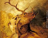 Sir Edwin Henry Landseer Stag and Hound painting