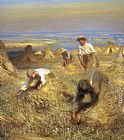 Sir George Clausen Harvesting the Sheaves painting