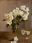 Sir George Clausen Little White Roses painting