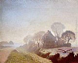 Sir George Clausen Morning In November painting