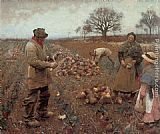Sir George Clausen Winter Work painting