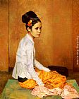 Sir Gerald Kelly Burmese Pearl painting