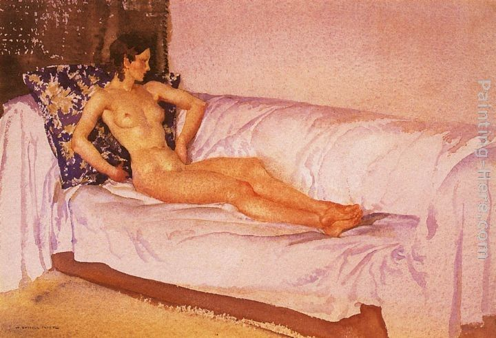 Sir William Russell Flint The Brocade Cushion