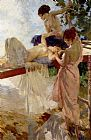 Sir William Russell Flint The Painted Bridge painting