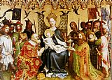 Stefan Lochner Adoration Of The Magi (central panel of the altarpiece of the Patron Saints of Cologne) painting