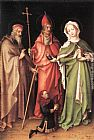 Stefan Lochner Saints Catherine, Hubert and Quirinus with a Donor painting