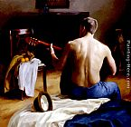 Steven J Levin The Guitar Player painting