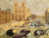 Terrick Williams Notre Dame, Paris 1914 painting