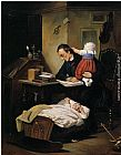 Theodor Alexander Weber The Busy Father painting