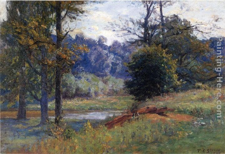 Theodore Clement Steele Along the Creek