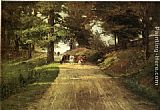 Theodore Clement Steele An Indiana Road painting
