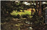 Theodore Clement Steele Brook in Woods painting