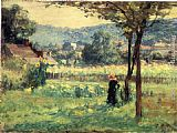 Theodore Clement Steele Flower Garden at Brookville painting