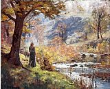 Theodore Clement Steele Morning by the Stream painting