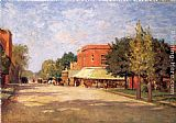 Theodore Clement Steele Street Scene painting