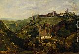 Theodore Rousseau Bourg en Auvergne painting