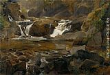 Theodore Rousseau Torrent end Auvergne et reteune painting