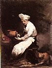 Theodule Augustine Ribot The Cook and the Cat painting