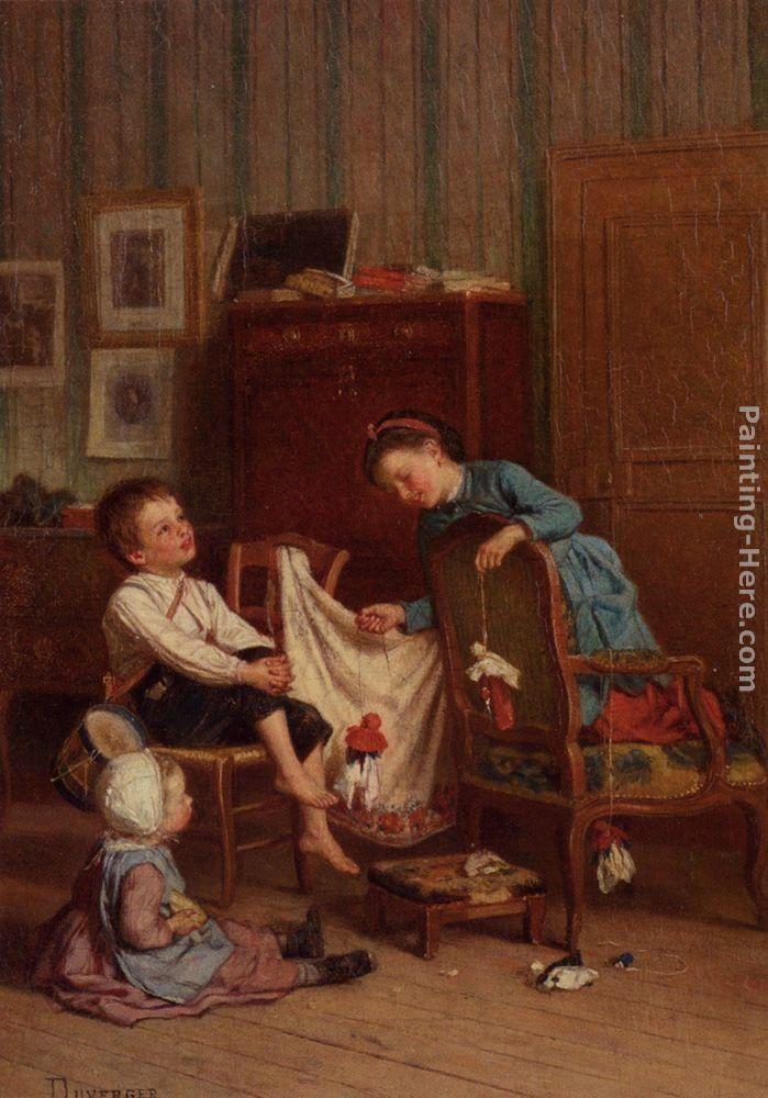 Theophile-Emmanuel Duverger The Puppet Show
