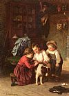 Theophile-Emmanuel Duverger The Patient Pet painting